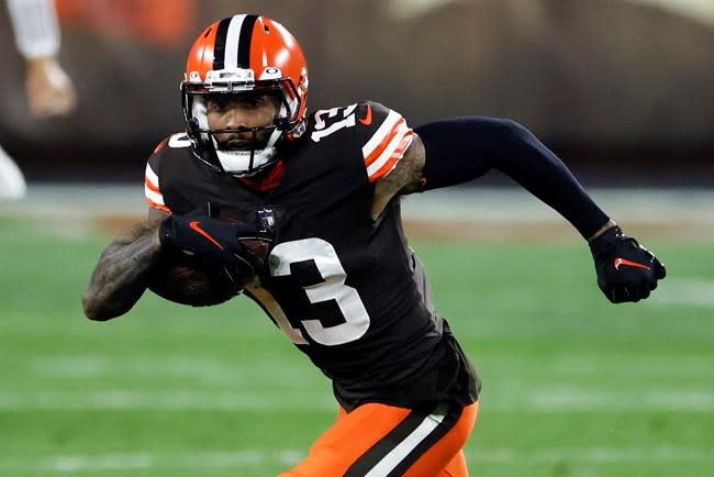 """Browns' OBJ """"good to go"""" to face Cowboys, Hunt questionable"""