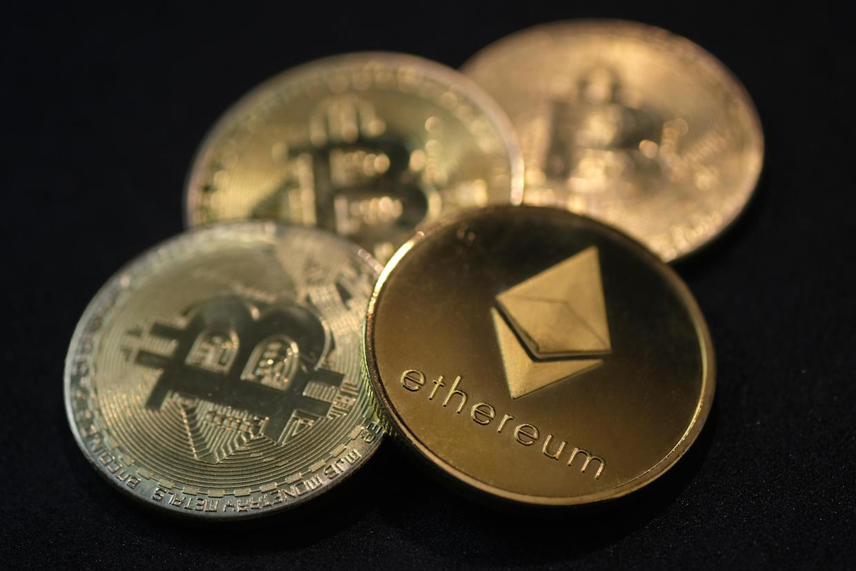 China's official announcement on Friday triggered a flash crash in crypto market. Photo: Yuriko Nakao/Getty Images