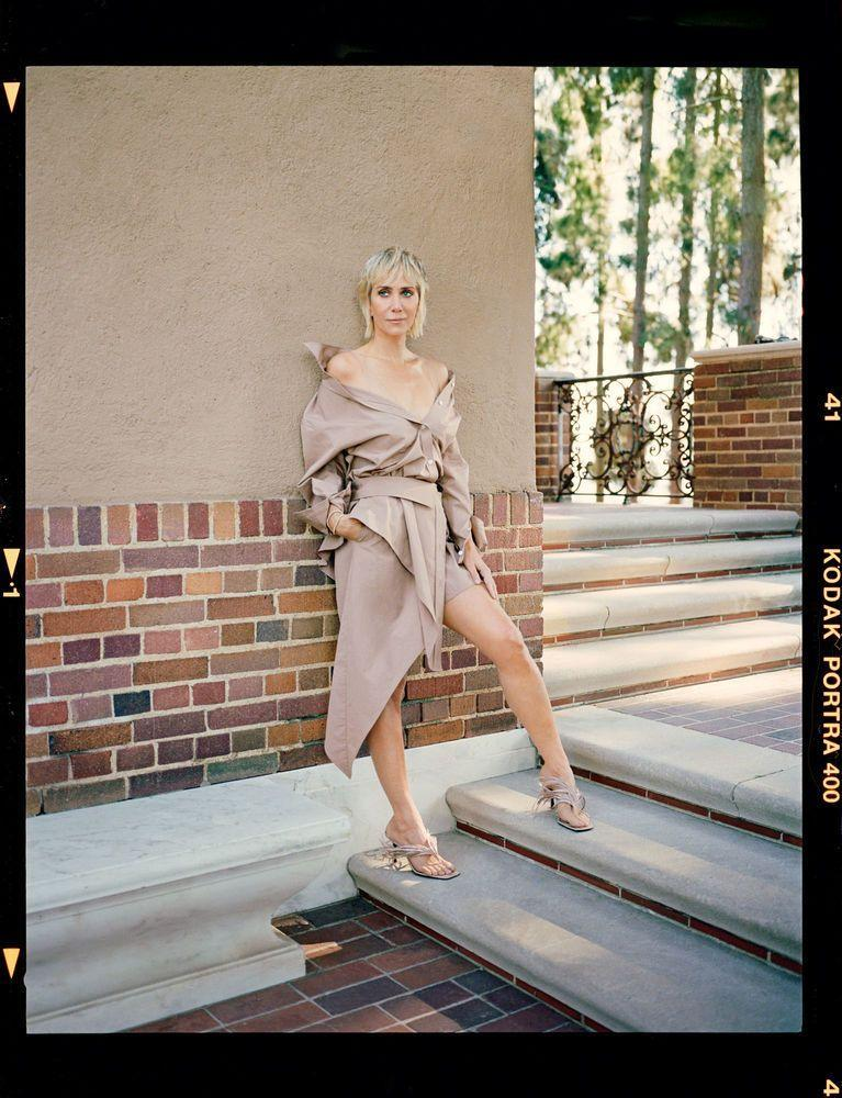 Photo credit: Kristen wears Alexander Wang dress and shoes, photographed by David Slijper