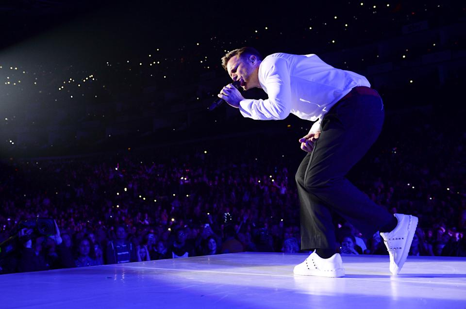 Olly Murs on stage during day one of Capital's Jingle Bell Ball 2018 with Coca-Cola at the O2 Arena, London. Picture Credit Should Read: Doug Peters/EMPICS
