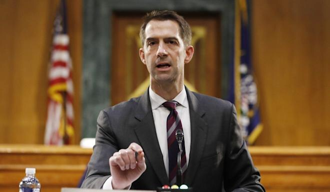 Senator Tom Cotton, Republican of Arkansas, is among the China hawks scheduled to speak at the Republican National Convention. Photo: AFP