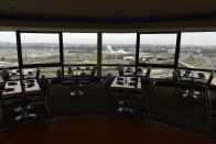 FILE - This Nov. 9, 2018, file photo shows a view of Washington from a revolving restaurant in Crystal City, Va. Stuffed into the new emergency relief package is a morsel that President Donald Trump has long had on the buffet of his economic wish list: restoring full tax breaks for restaurant business meals. (AP Photo/Susan Walsh, File)