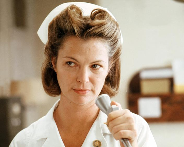 """Louise Fletcher as Nurse Ratched in 'One Flew Over The Cuckoo's Nest', directed by Milos Forman, 1975.<span class=""""copyright"""">Getty Images—2013 Silver Screen Collection</span>"""