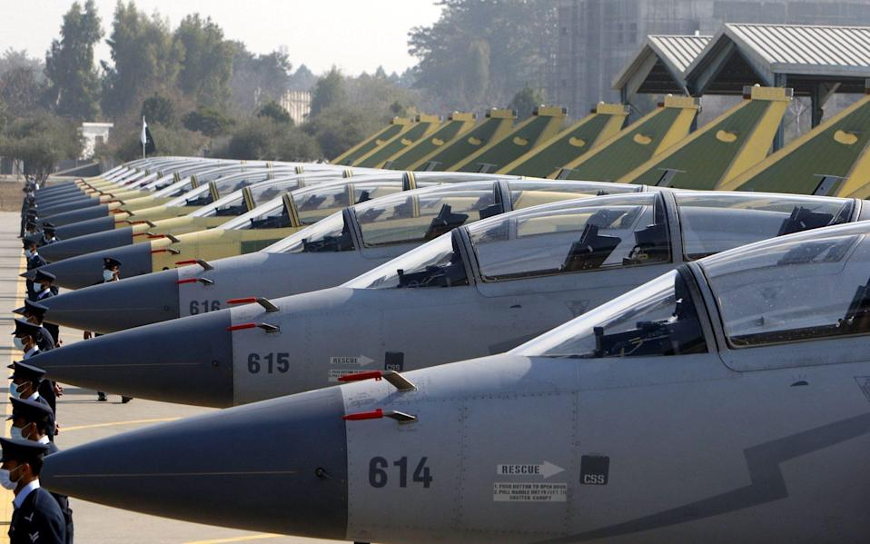 A total of 20 Chinese fighter jets have entered Taiwan's air defence identification zone in the past two days - SOHAIL SHAHZAD/EPA-EFE/Shutterstock/Shutterstock