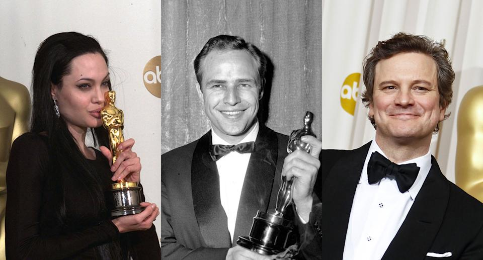 Angelina Jolie, Marlon Brando and Colin Firth are among those who've lost their accolades. (Getty)