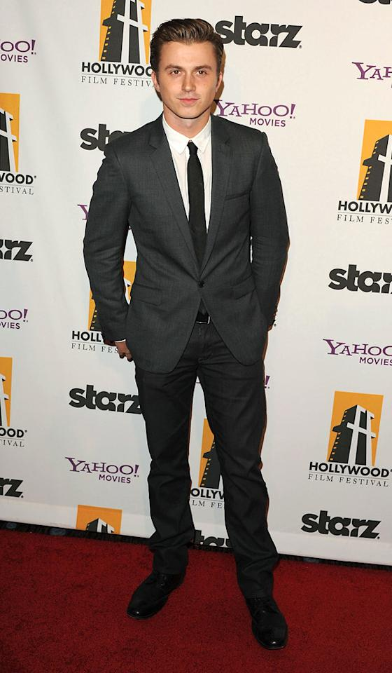 """<a href=""""http://movies.yahoo.com/movie/contributor/1809901436"""">Kenny Wormald</a> at the 15th Annual Hollywood Film Awards in Beverly Hills, California on October 24, 2011."""