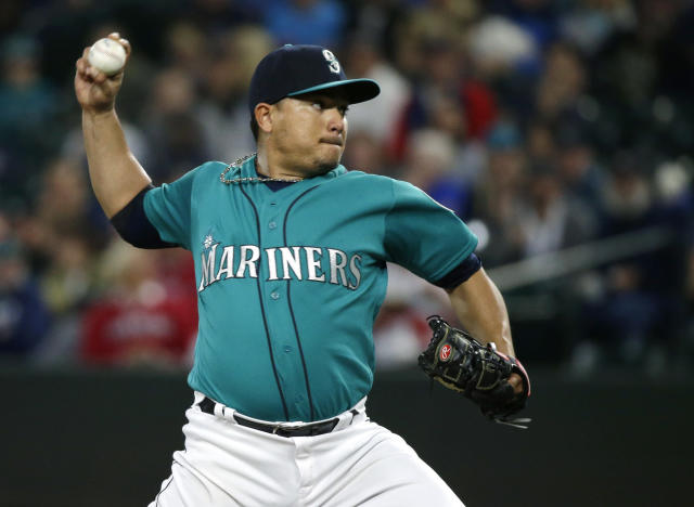 "Surging <a class=""link rapid-noclick-resp"" href=""/mlb/players/9135/"" data-ylk=""slk:Erasmo Ramirez"">Erasmo Ramirez</a> beat Cleveland last week (AP Photo/Ted S. Warren)"