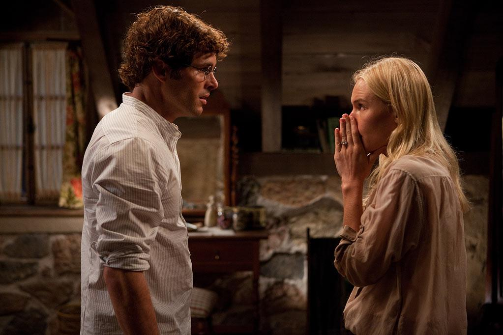 """<a href=""""http://movies.yahoo.com/movie/contributor/1800355003"""">James Marsden</a> and <a href=""""http://movies.yahoo.com/movie/contributor/1803242658"""">Kate Bosworth</a> in Screen Gems' <a href=""""http://movies.yahoo.com/movie/1810105888/info"""">Straw Dogs</a> - 2011"""