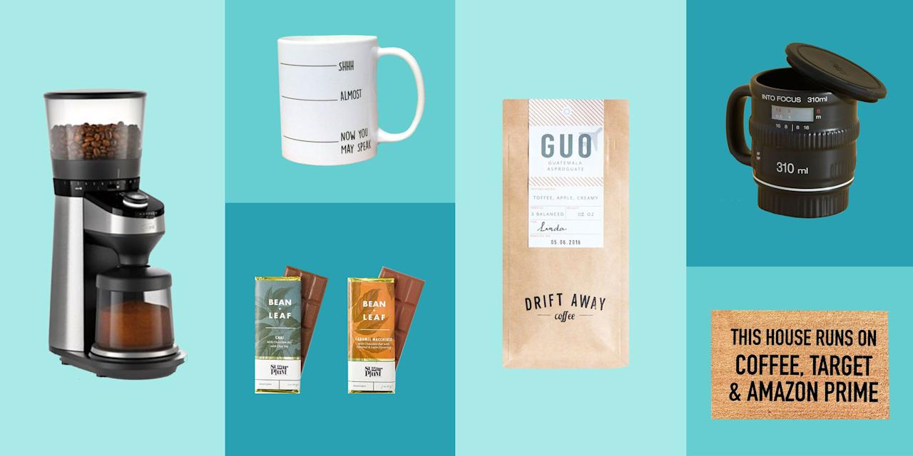 <p>Coffee people are the best kind of people. Celebrate their love of caffeine with one of these fun coffee gifts this holiday season. Mugs, coffee, kitchen tools, clothing...there's something for every java fan in here, from as little as $9.</p>