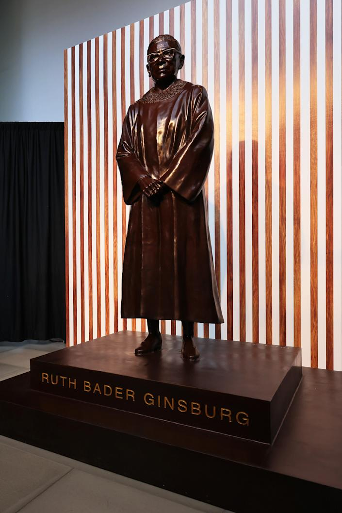Image: Statue Of Former Supreme Court Justice Ruth Bader Ginsburg Unveiled In Brooklyn (Michael M. Santiago / Getty Images)