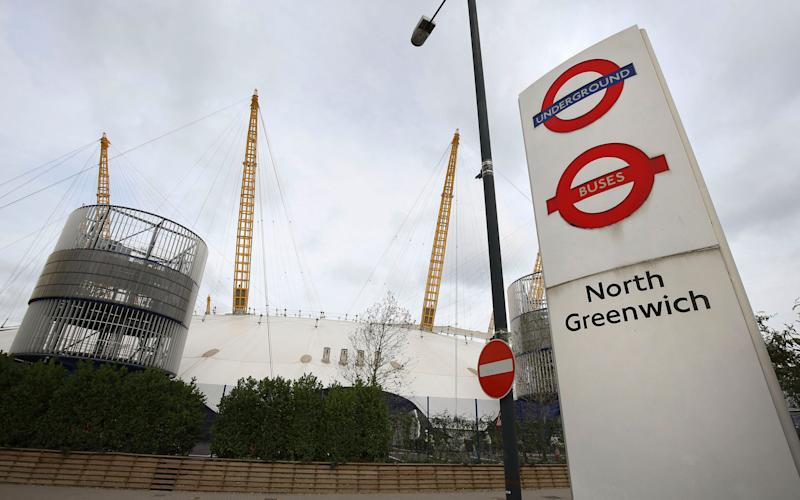 North Greenwich tube station was at the centre of the security alert - Credit: Philip Toscano/PA Wire