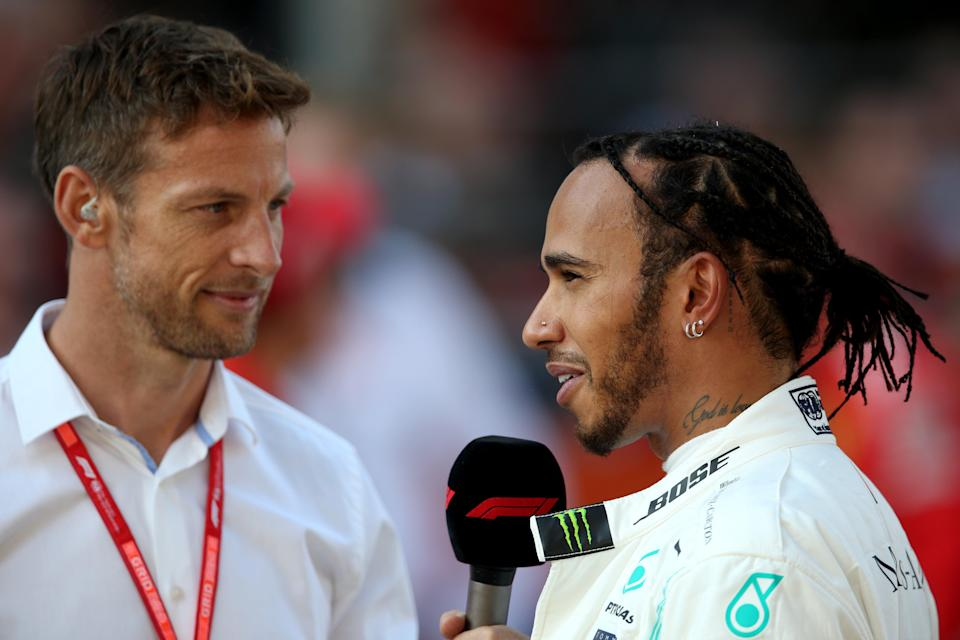 <p>Head to head: Jenson Button and Lewis Hamilton now both have Extreme E teams</p> (Getty Images)