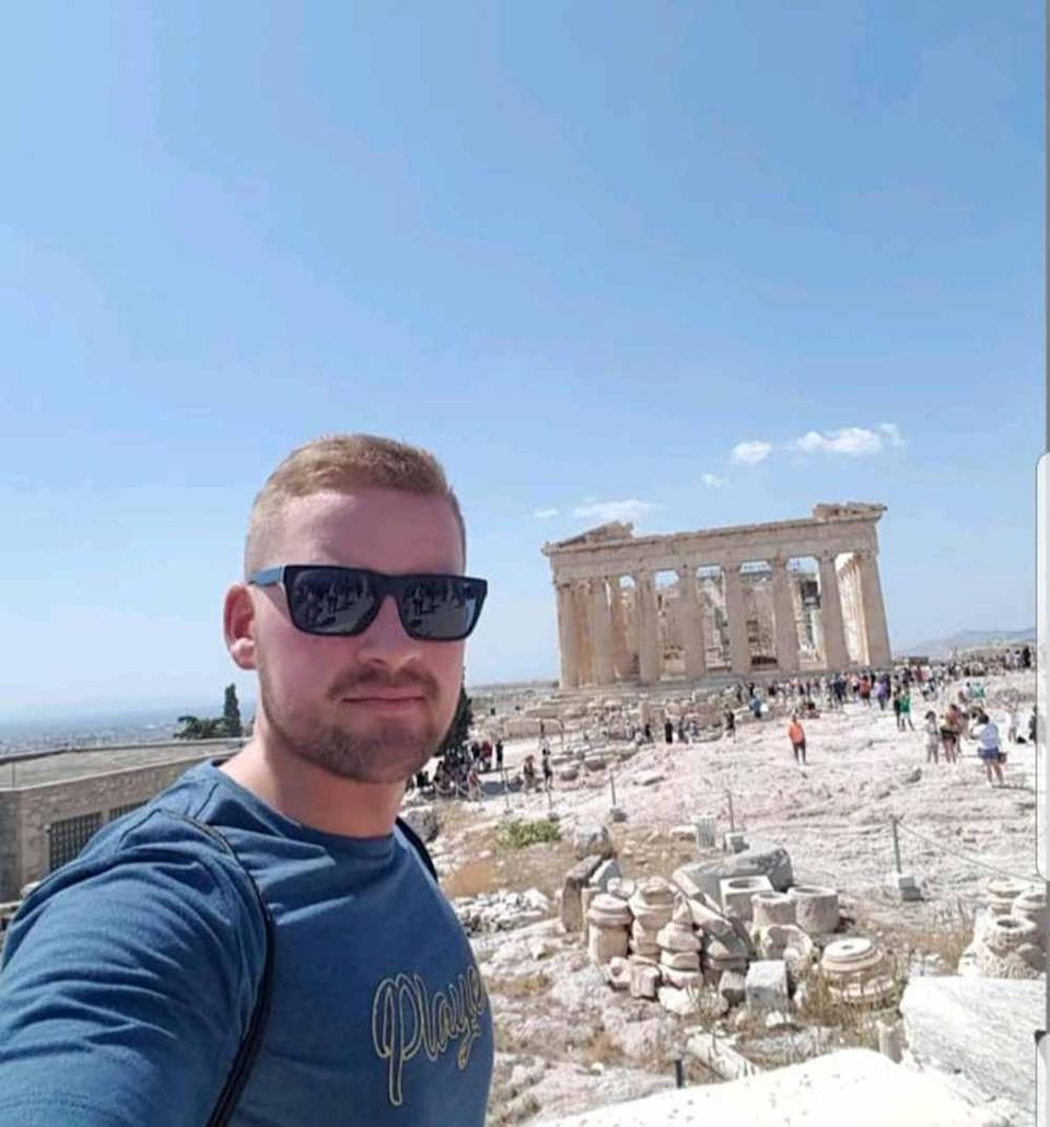 Neil Kennedy, who lives in Glasgow, pictured in Athens in 2018. PA REAL LIFE COLLECT