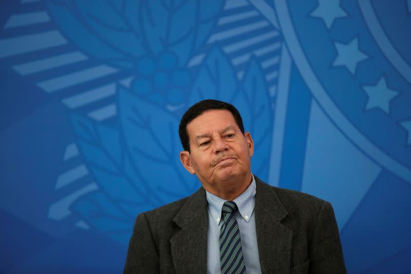 Brazil's VP Mourao says mining in indigenous lands is legal, but needs regulation