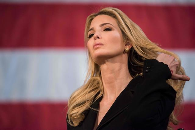 When Ivanka Trump turned up in a pantsuit, people compared her to Hillary Clinton. (Photo: Getty Images)