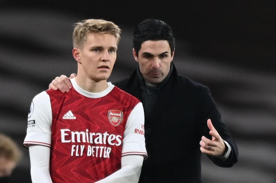 "<p>Odegaard on Arteta: ""He's really intelligent, really smart""</p> (POOL/AFP via Getty Images)"