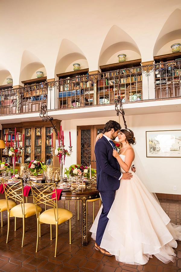 """<p>Who doesn't love a fairytale brought to life? Almost as though this couple could foresee Disney's live-action rendition of """"Beauty and the Beast,"""" their wedding stunned with a <a rel=""""nofollow"""" href=""""http://www.elledecor.com/life-culture/fun-at-home/a7421/yellow-design-inspiration-from-instagram/"""">yellow</a> and red color scheme, a reception hall surrounded with bookcases and a fairytale-worthy dress for the bride. </p><p><em>Via <a rel=""""nofollow"""" href=""""http://strictlyweddings.com/"""">Strictly Weddings</a> </em><br></p>"""