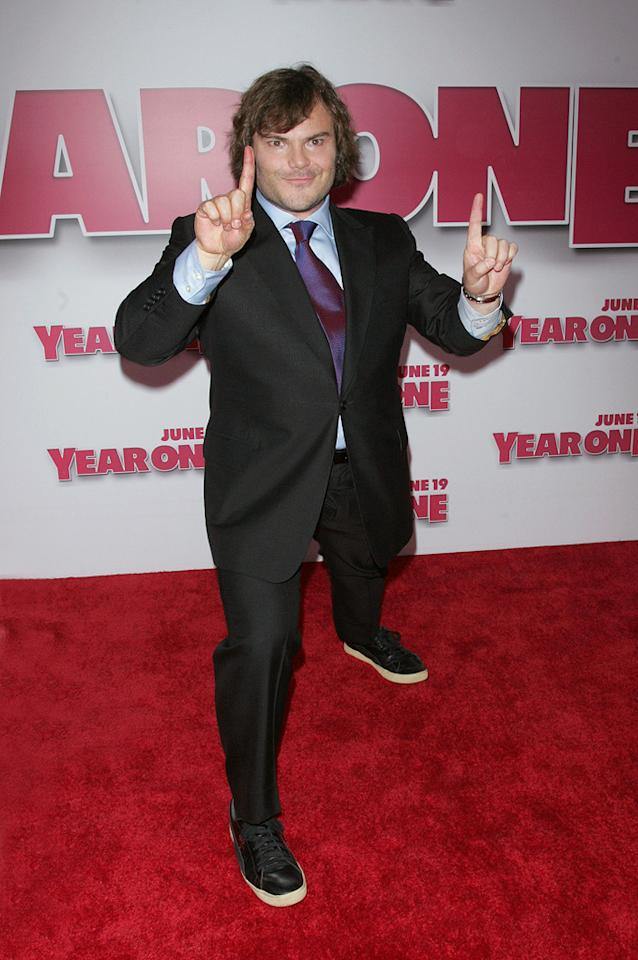 "<a href=""http://movies.yahoo.com/movie/contributor/1800180457"">Jack Black</a> at the New York premiere of <a href=""http://movies.yahoo.com/movie/1809981033/info"">Year One</a> - 06/15/2009"