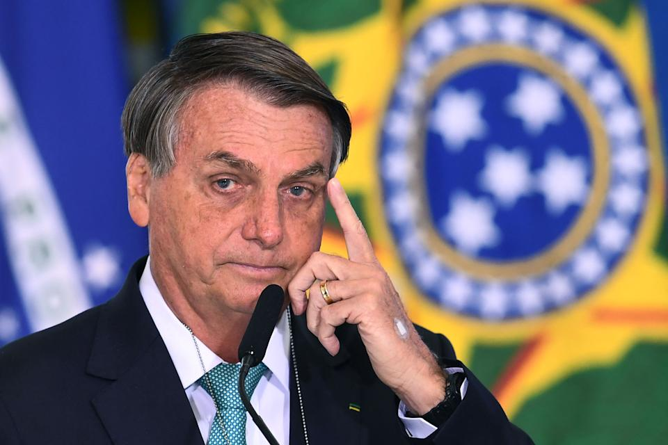 Brazilian President Jair Bolsonaro has elicited widespread protests over the nation's COVID-19 crisis. (Photo by EVARISTO SA / AFP)