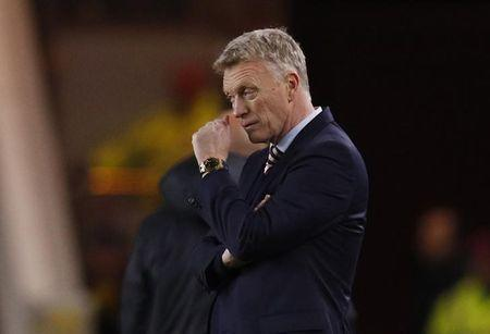 Sunderland manager David Moyes looks dejected at full time
