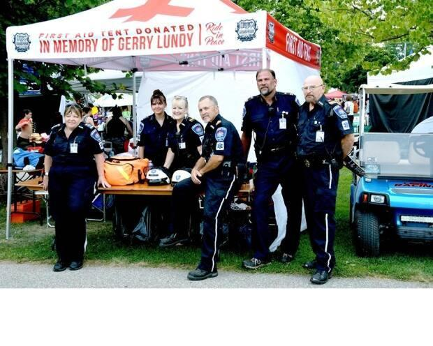 ECMU began in 2015 and has since grown to include nine members. The crew helps out charity motorcycle events and stranded bikers whenever they get a call.  (Submitted by the Emergency Care Motorcycle Unit - image credit)