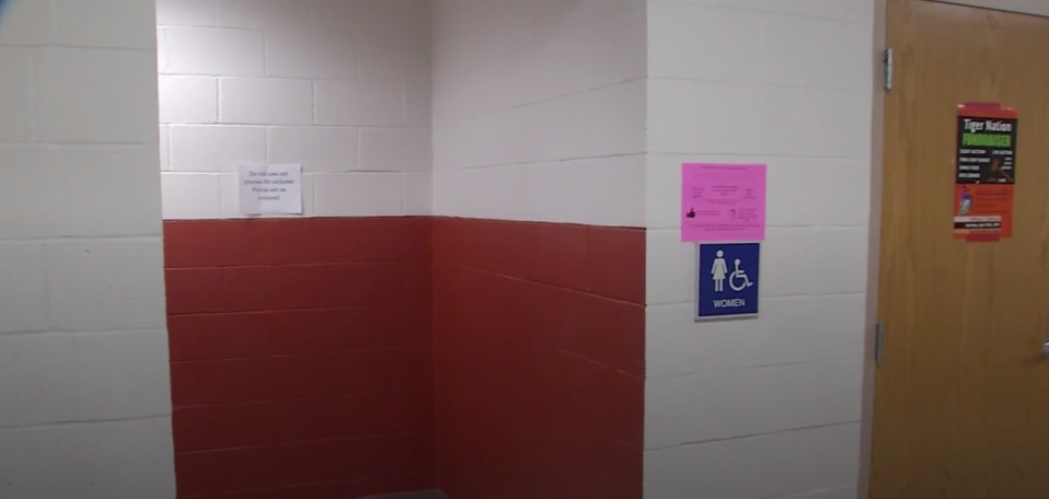 Students were shocked to enter school and discover that the doors to the bathroom stalls in Beardstown High School had been removed after a threat was made. (Photo: WICS/WRSP)
