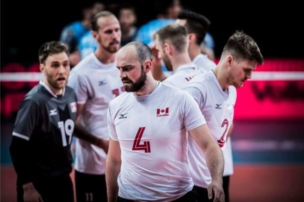 Canada rebounded from its opening-day loss to the U.S. with a straight sets 25-17, 25-21, 25-19 victory over Argentina at the 2021 Nations League volleyall tournament in Rimini, Italy on Saturday.   (@VBallCanada/Twitter - image credit)