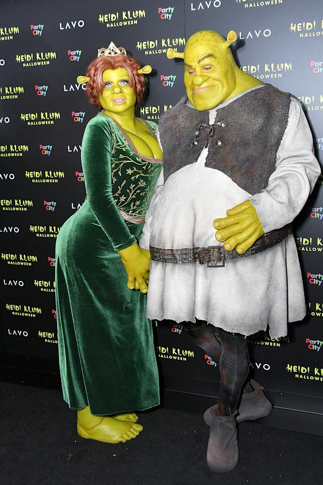 <p>Heidi's boyfriend, musician Tom Kaulitz, dressed as Shrek. Photo: Getty Images </p>