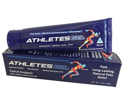 Athletes Gel™ is one of the fastest growing sports pain relief formulas on the market today. A naturally powerful gel, it targets pain quickly, reduces inflammation and lasts up to 8 hours. (CNW Group/Element Nutritional Sciences Inc.)