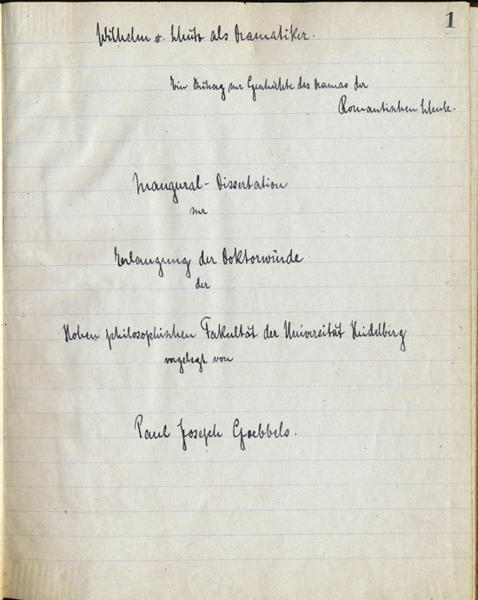 This undated photo provided by Alexander Autographs, of Stamford, Conn., shows a pre-World War II document by Nazi propaganda minister Joseph Goebbels. Alexander Historical Auctions plans to sell the collection of Goebbels' writings Thursday, Sept. 27, 2012, in Stamford. (AP Photo/Alexander Autographs)