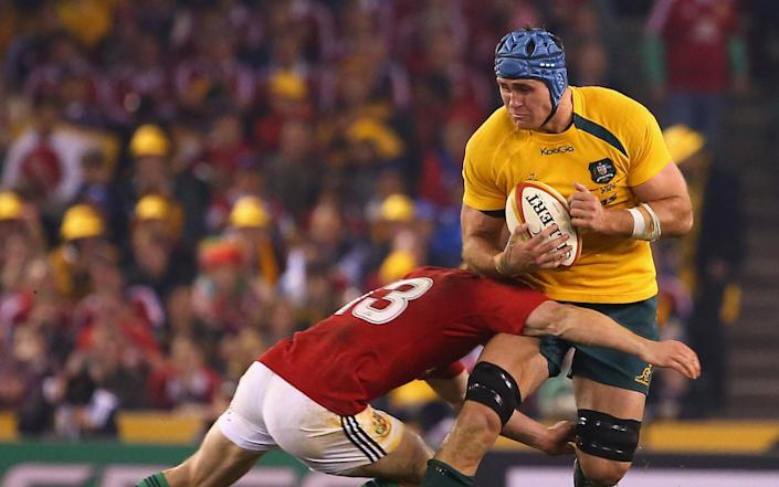 James Horwill led Australia to a very tight win over the Lions in the second Test in Melbourne - GETTY IMAGES