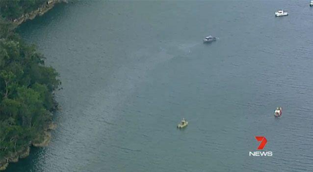 The sea plane crashed into the Hawkesbury River. Source: 7News