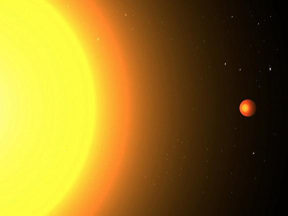 An artist's conception of Kepler-78b, which orbits its star in just 8.5 hours.