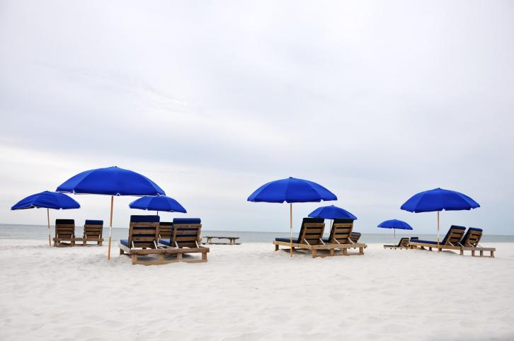 The BP oil spill in the Gulf put a damper on tourism, but the coastal area has bounced back. Vacationers come for the ocean fishing (and ocean-fish eating), beaches, and golf. A lot of golf: nine golf clubs and one state-owned, 18-hole course.