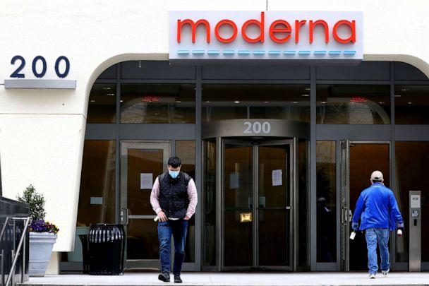 PHOTO: A view of Moderna headquarters in Cambridge, Massachusetts, on May 8, 2020. (Maddie Meyer/Getty Images)