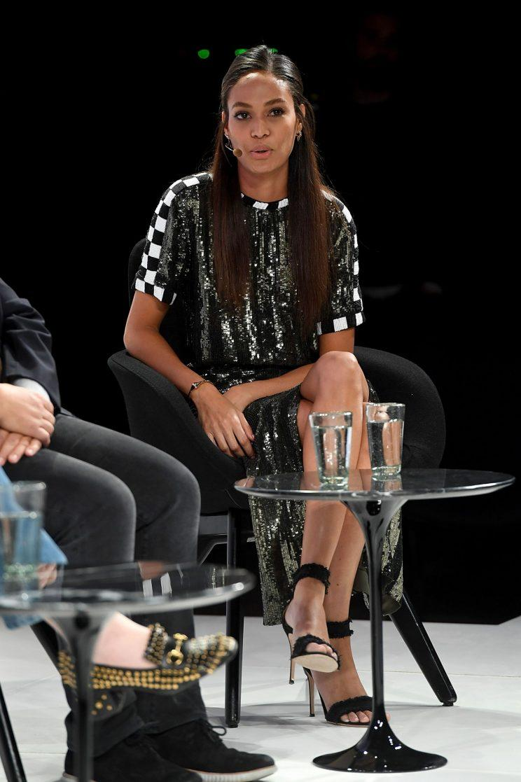 Puerto Rican model Joan Smalls discussed her experience of diversity at a recent event [Photo: Getty]
