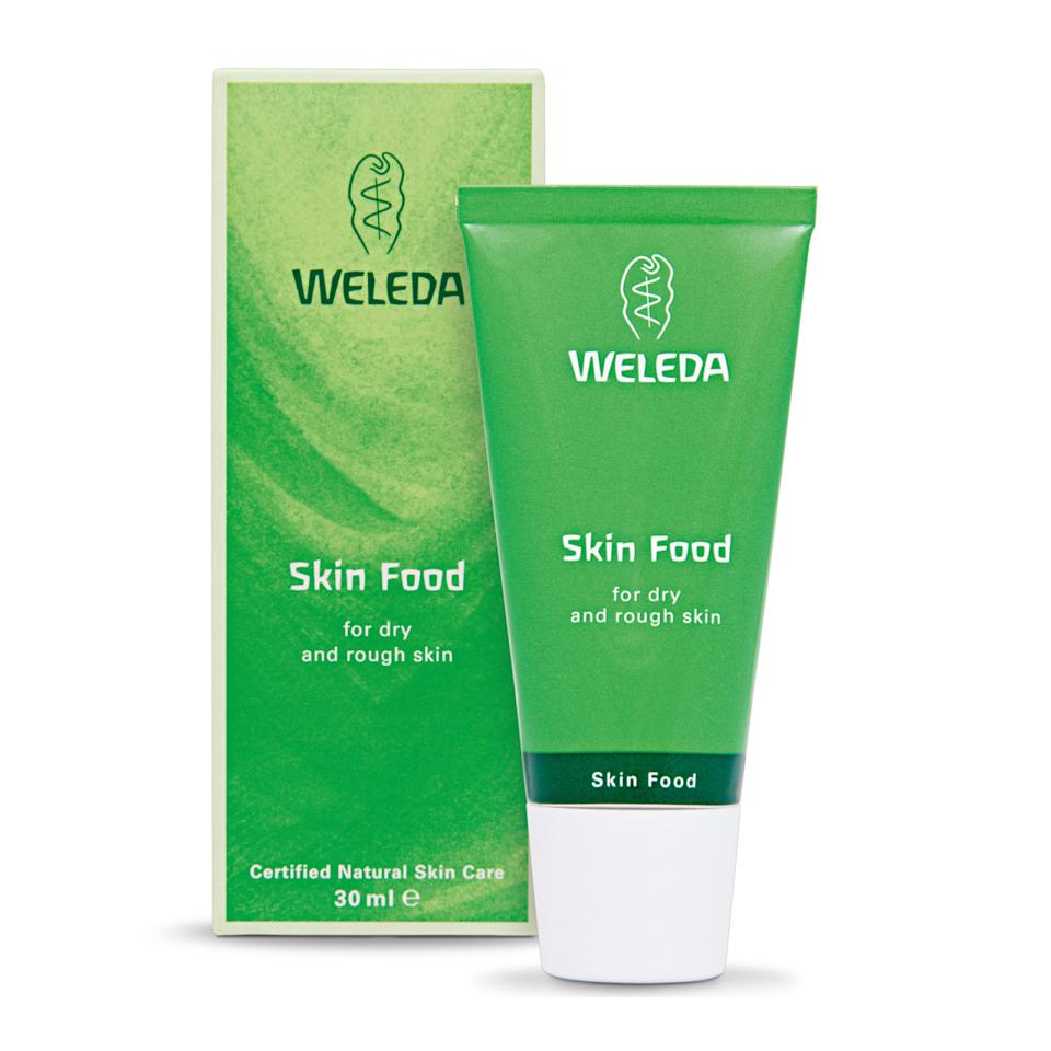 """<p>Nourshing plant oils work to hydrate dry, cracked skin making this the perfect stocking stuffer. <a href=""""http://usa.weleda.com/our-products/shop/skin-food.aspx"""">Weleda Skin Food Cream</a> ($19)</p>"""