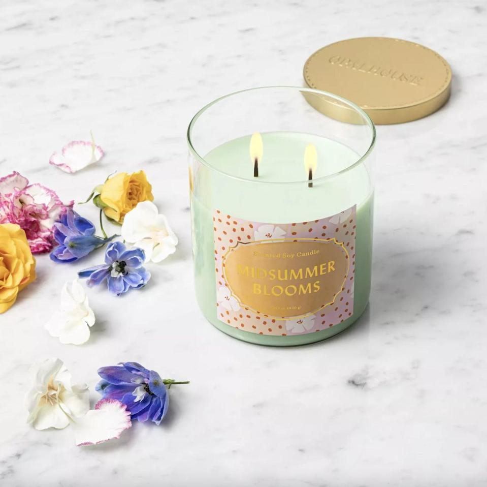 <p>Just look at this cute <span>Midsummer Blooms Lidded Jar Candle</span> ($10)! It smells of orange blossom and floral flavors, meaning it's a must-have for every season.</p>