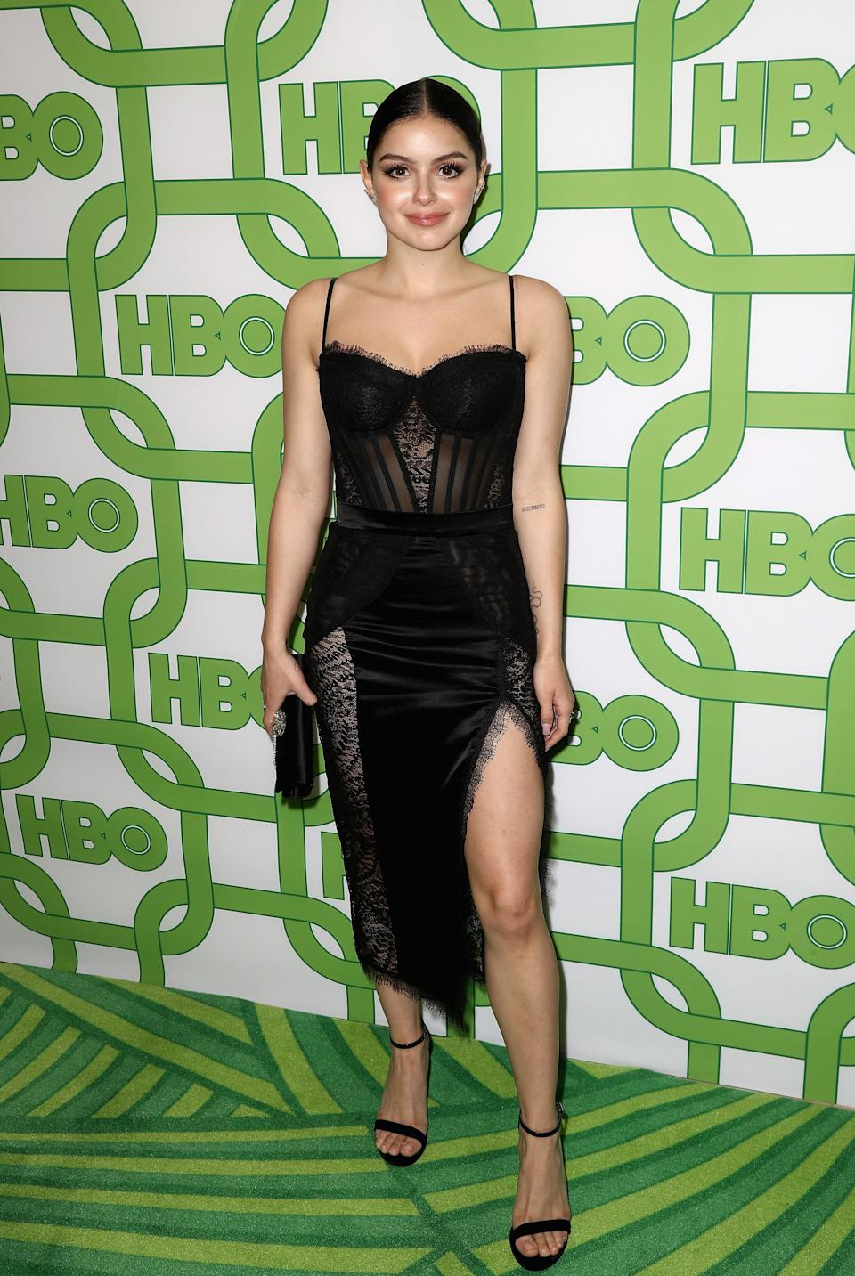 "<h1 class=""title"">HBO's Official Golden Globe Awards After Party - Arrivals</h1> <div class=""caption""> LOS ANGELES, CA - JANUARY 06: Ariel Winter attends HBO's Official Golden Globe Awards After Party at Circa 55 Restaurant on January 6, 2019 in Los Angeles, California. (Photo by Frederick M. Brown/Getty Images) </div> <cite class=""credit"">Frederick M. Brown</cite>"