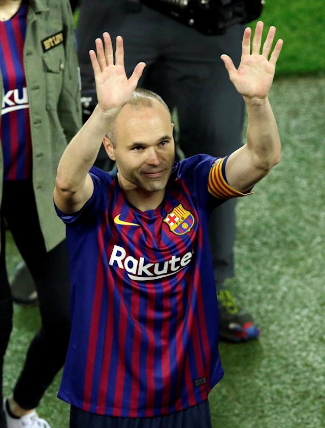 Soccer Football - La Liga Santander - FC Barcelona vs Real Sociedad - Camp Nou, Barcelona, Spain - May 20, 2018 Barcelona's Andres Iniesta after the match REUTERS/Albert Gea