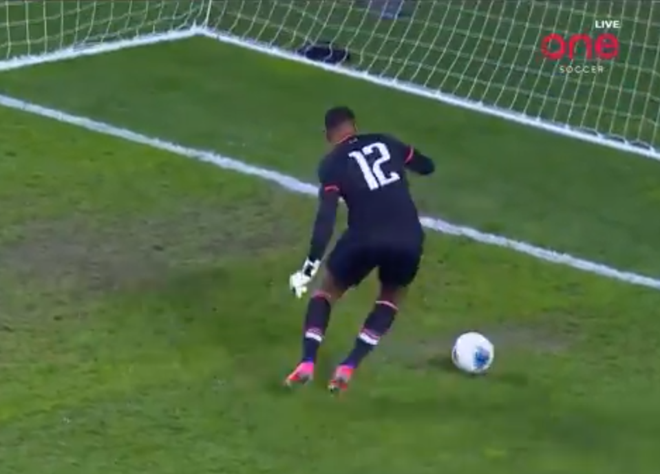 One of the worst concessions in goalkeeping history went Canada's way Tuesday night, pushing the Canadians into the final round of World Cup qualifying.  (Twitter/One Soccer)
