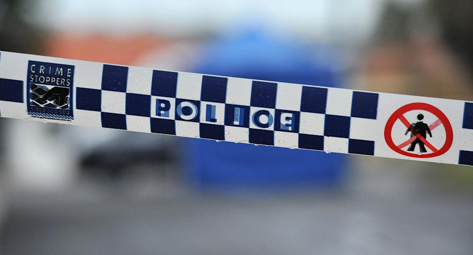 A stock image of NSW police tape.