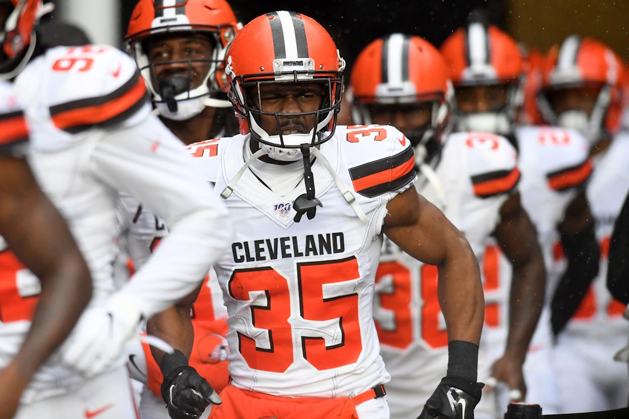 The Browns cut defensive back Jermaine Whitehead after offensive tweets. (Getty Images)