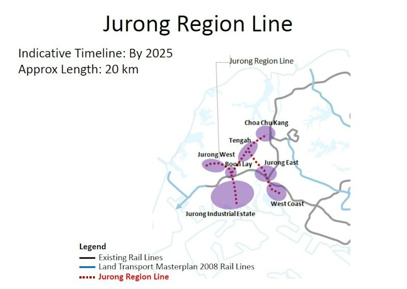Jurong Region Line (Courtesy of LTA)