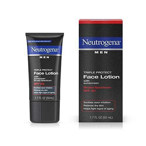 "<p><strong>Neutrogena</strong></p><p>amazon.com</p><p><strong>$5.84</strong></p><p><a href=""https://www.amazon.com/dp/B003NSPOF2?tag=syn-yahoo-20&ascsubtag=%5Bartid%7C10063.g.34585332%5Bsrc%7Cyahoo-us"" rel=""nofollow noopener"" target=""_blank"" data-ylk=""slk:Shop Now"" class=""link rapid-noclick-resp"">Shop Now</a></p><p>All of the good work you're doing will be for naught if you don't use sunscreen. This multi-action lotion—it also calms razor burn—makes it easy to incorporate SPF with just enough hydration to keep skin soft, not greasy. </p>"