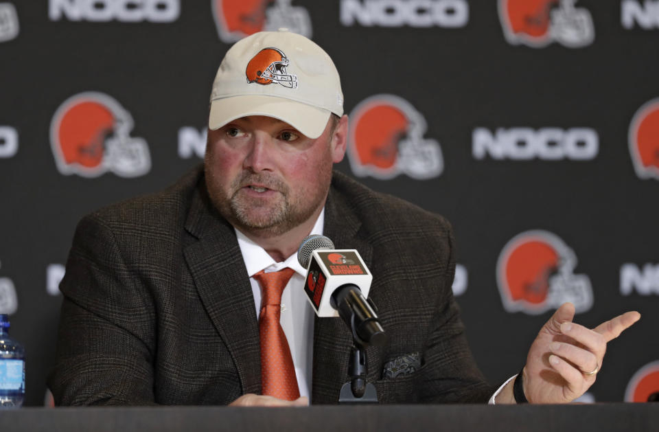 The Browns introduced Freddie Kitchens as their newest head coach on Monday. (AP)