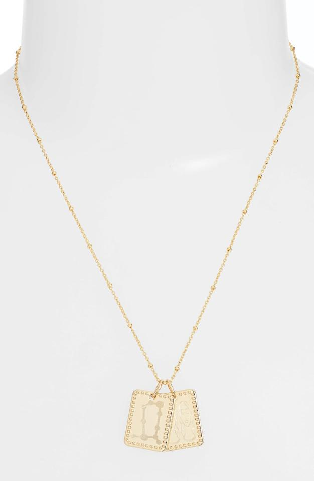 "<p>This <product href=""https://www.nordstrom.com/s/sterling-forever-zodiac-tag-pendant-necklace/5412924?origin=category-personalizedsort&amp;breadcrumb=Home%2FSale%2FWomen%2FJewelry&amp;color=gold%20gemini"" target=""_blank"" class=""ga-track"" data-ga-category=""internal click"" data-ga-label=""https://www.nordstrom.com/s/sterling-forever-zodiac-tag-pendant-necklace/5412924?origin=category-personalizedsort&amp;breadcrumb=Home%2FSale%2FWomen%2FJewelry&amp;color=gold%20gemini"" data-ga-action=""body text link"">Sterling Forever Zodiac Tag Pendant Necklace</product> ($46, originally $58) is so dainty.</p>"