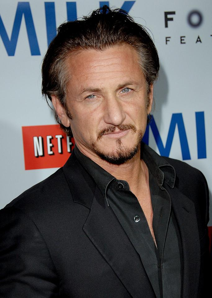 """<a href=""""http://movies.yahoo.com/movie/contributor/1800019044"""">Sean Penn</a> at the Los Angeles premiere of <a href=""""http://movies.yahoo.com/movie/1810041985/info"""">Milk</a> - 11/13/2008"""