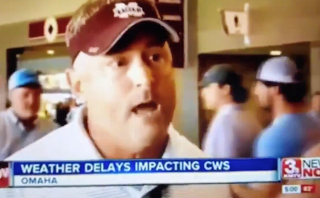 Mississippi State baseball fan dupes news channel with phenomenal deadpan delivery of fake story