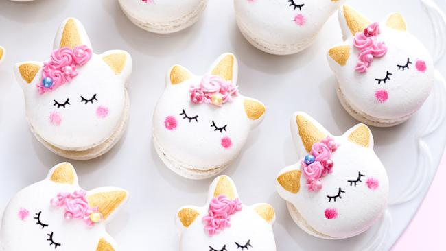 Closeup obest-online-cooking-classesf unicorn macaron cookies; Shutterstock ID 631778075; Purchase Order: N/A